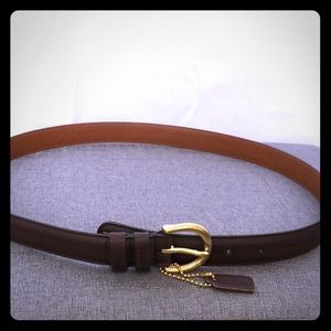 Coach Leather brown belt size Large